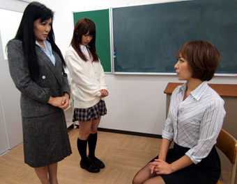 Teacher Spanks Student and Her Mom